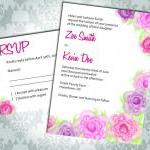Wedding Invitation - Rose -..